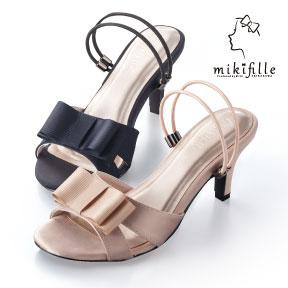 mikifille 白川みきの美脚おリボンサンダル
